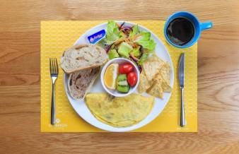 早午餐-培根起司歐姆蛋捲